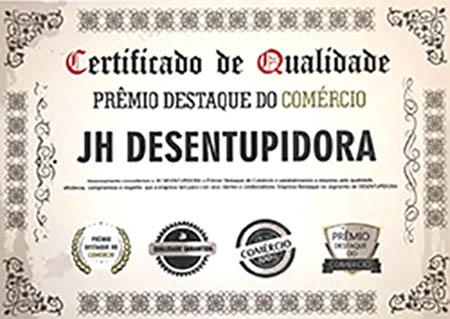 Certificado-de-Qualidade-jh-Desentupidora Home
